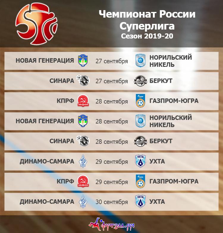 Афиша 3-го тура Суперлиги сезона 2019-20
